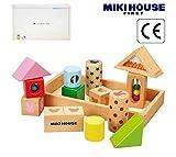 ミキハウス包装紙でラッピング済み ミキハウス 音が鳴る積み木 ラトルブロック 46-1239-786 mikihouse