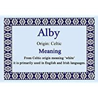 Alby Personalized名Meaning証明書
