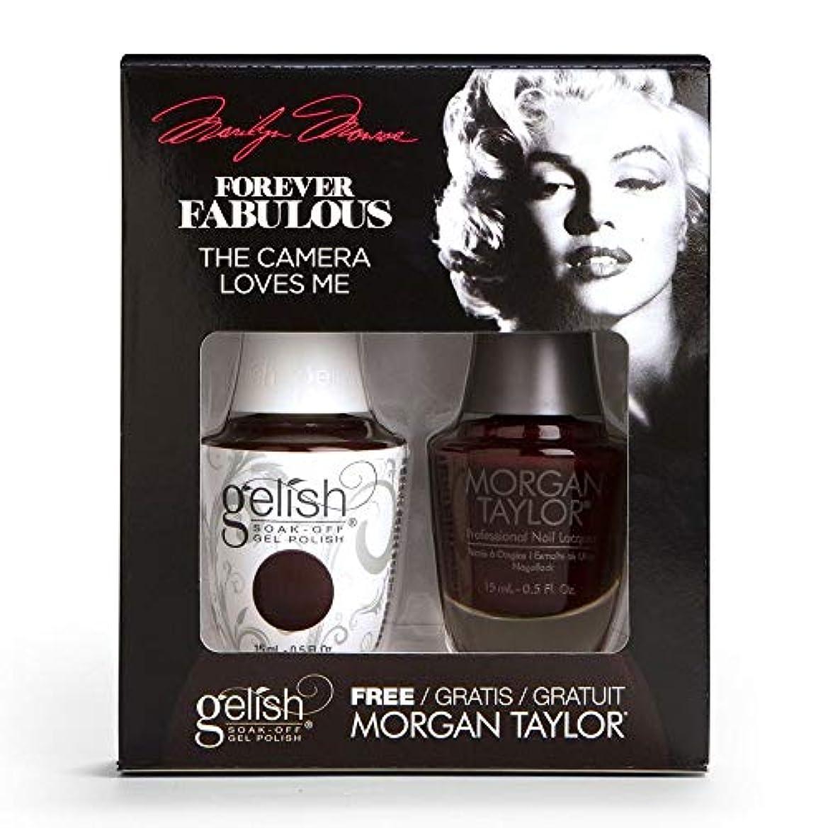 フットボール陰気聖域Harmony Gelish & Morgan Taylor - Two Of A Kind - Forever Fabulous Marilyn Monroe - The Camera Loves Me 15 mL /...