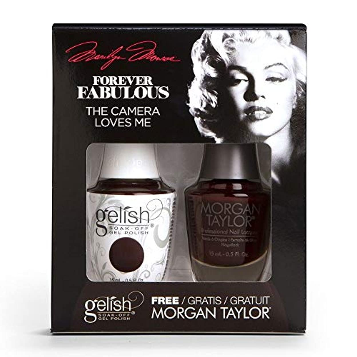 徹底的に墓軽蔑Harmony Gelish & Morgan Taylor - Two Of A Kind - Forever Fabulous Marilyn Monroe - The Camera Loves Me 15 mL /...