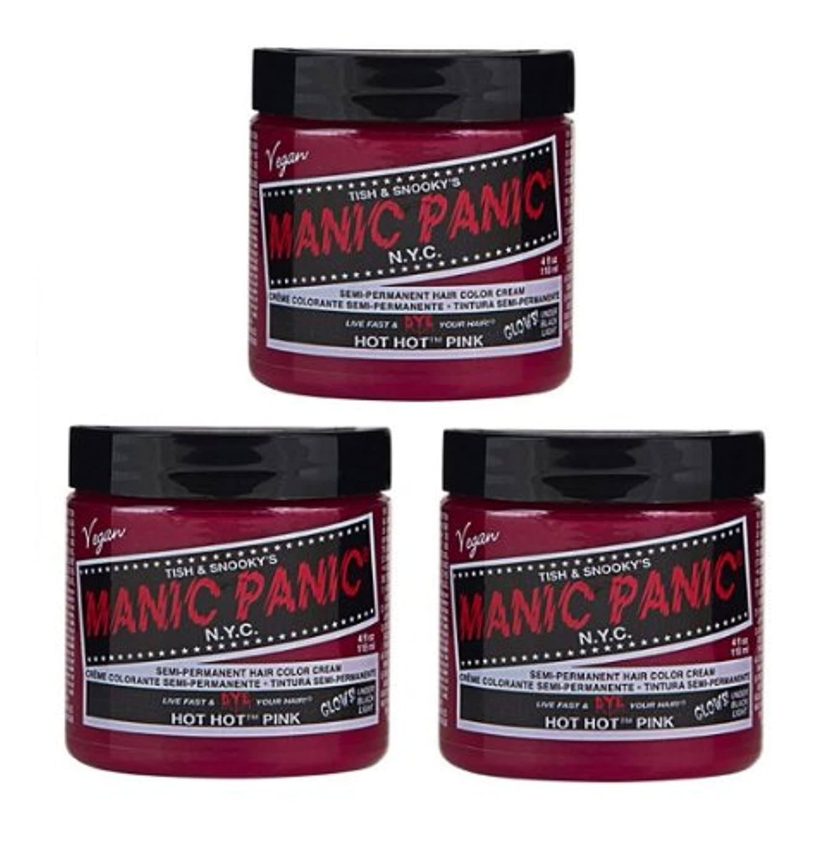 ロースト類推言及する【3個セット】MANIC PANIC マニックパニック Hot Hot Pink ホットホットピンク 118ml