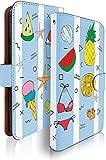 g08 ケース 手帳型 サマー ブルー 夏 ビーチ ジー 手帳型ケース 手帳型カバー フルーツ 海 [サマー ブルー/t0678]