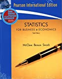 Statistics for Business & Economics:International Edition/MyMathLab/MyStatLab Student Access Kit