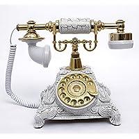 アンティーク電話機 117CS ヨーロッパ風 装飾電話機 回転ダイヤル式 骨董品 クラシック レトロ調 電池不要