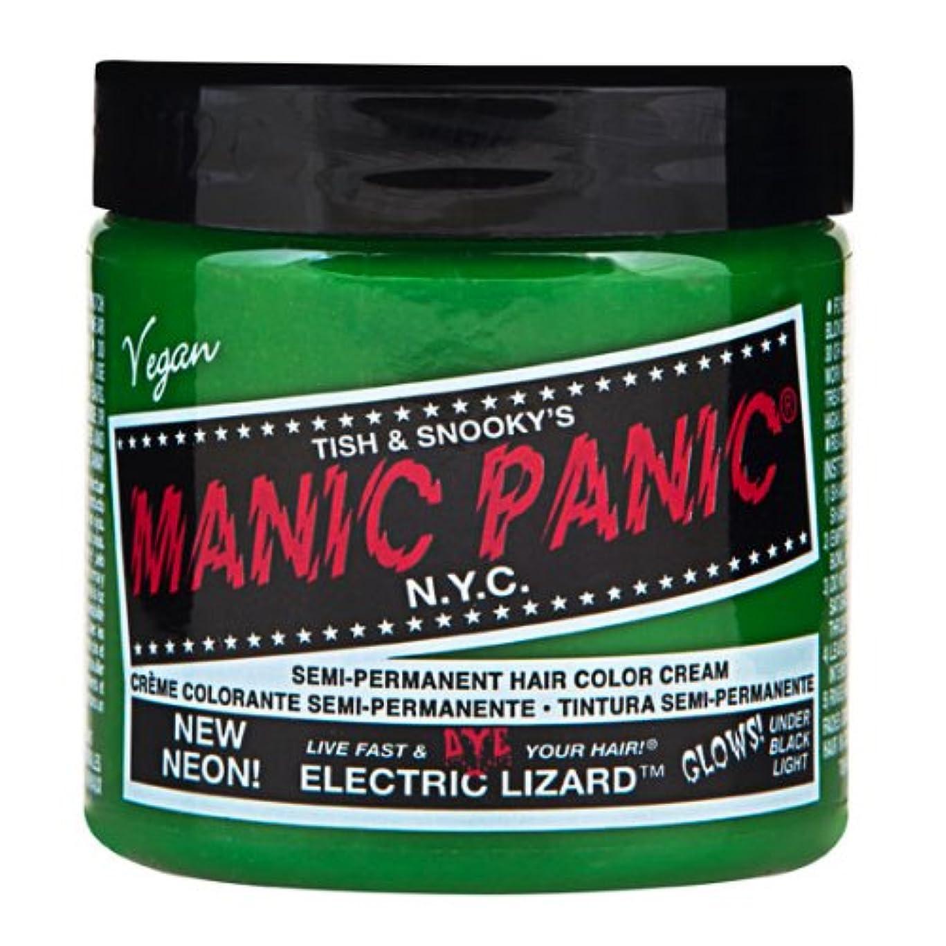 敵緑アルミニウムスペシャルセットMANIC PANICマニックパニック:Electric Lizard (エレクトリック?リザード)+ヘアカラーケア4点セット