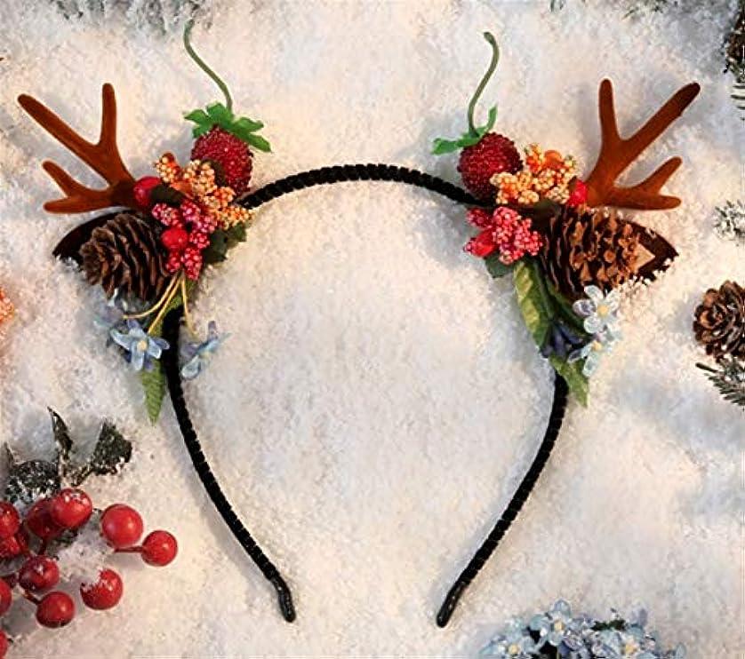 パーフェルビッドチロ何十人もクリスマスヘアピン装身具アントラーズ頭飾りセンエルフスーパー妖精のヘッドバンドクリップヘアアクセサリー大人のヘアピンヘッドバンド (Style : E)