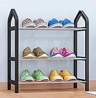 WSSF- シンプルな靴のラック多層家庭のストレージ靴のキャビネットシンプルな現代経済的なタイプ簡単なアセンブリ防塵靴スタンドフリースタンディングオーガナイザーのストレージホルダー色オプション、42 * 20 * 45センチメートル ( 色 : ブラック )