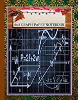 A cute Graph Paper Composition Notebook : Perfect Blank   Quad Ruled 1/4 Squares inches.: Graphing Grid Journal  4x4   Best Chistmas Gifts ideas for Math & Science for Kids  teens   and Students 8.5 x 11 Inches 120 pages.