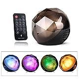 【ligangam】高音質 Bluetooth ワイヤレス スピーカー マルチカラーLED搭載 多色変化 クリスタル マジック ボール ポータブル スピーカーホン TFカード対応可能 iPhone / iPad / Samsung / SONY / Androidなど対応   ミニポータブルスピーカー