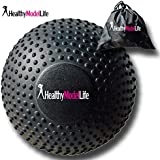"5"" Foam Roller Massage Ball by Healthy Model Life - Better Than Any Foam Roller for Trigger Point and Glute Release - Includes Free Carry Bag"