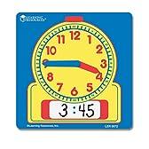Learning Resources Write & Wipe Student Clocks 【知育玩具 算数教材 時間】 書いて消せる学習時計 生徒用 10個セット 正規品