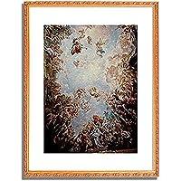 Giordano, Luca (Fa Presto),1632-1705「Gewolbefresko im Palazzo Medici Riccardi in Florenz.」インテリア アート 絵画 プリント 額装作品 フレーム:装飾(金) サイズ:M (306mm X 397mm)