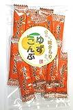 味きらり ゆず昆布 国産コンブ 北海道加工の人気昆布珍味菓子です。お試し少量郵送 送料無料 郵便受け投函