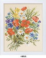 ししゅうキット 7282(ベージュ) やさしい花刺しゅう額 サマーポピー