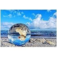 クリスタルボール レンズボール 撮影 40mm 無色透明 水晶玉 クリスタル台座付き 拭き取り布 風水グッズ インテリア 置く物 女性向け プレゼント
