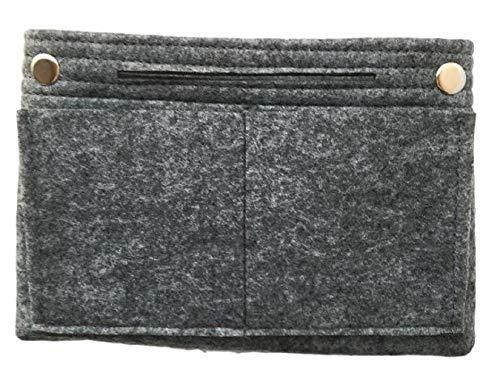 小さめ バッグインバッグ フエルト インナーバッグ a5 b5 小物整理 収納 オーガナイザー (グレー)