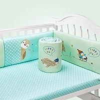 Rart 5 個コットン ベビーベッド バンパー,赤ちゃんの寝具の設定 保育園ゆりかご装飾 まぐさ桶の寝具のソフト クッション安全プロテクター衝突抵抗力があります。 -A 104x58cm(41x23inch)