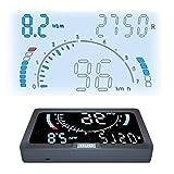 ニコマク NikoMaku HUD ヘッドアップディスプレイ OBD2 8種画面選択 車載スピードメーター 高輝度 時速をフロントガラスに 過速度警告搭載 反射フィルム付き 日本語説明書 - 4,850 円