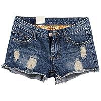 Happyyip Womens Vintage Fringe Denim Shorts Jeans Vary Styles