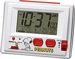 リズム時計 SNOOPY ( スヌーピー ) 電波 目覚まし キャラクター 時計 R126 ホワイト 8RZ126RH03