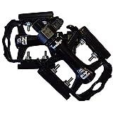 WELLGO(ウェルゴ) アルミペダル ブラック/シルバー 381g ワンタッチで取り外し可能 輪行に便利 ロード/ATB/MTB QRD-C27G