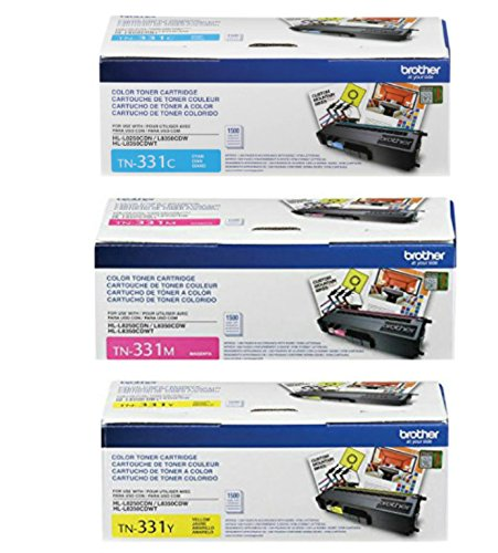 Brother TN-331 Standard Yield Toner Cartridge Set Colors Only (CMY) by Brother