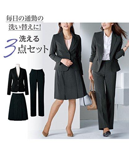 7号 9号 13号 上下 レディース /( ジャケット + パンツ + スカート /) スーツ nissen 15号 11号 17号 オフィス 3点セット /(ニッセン/)