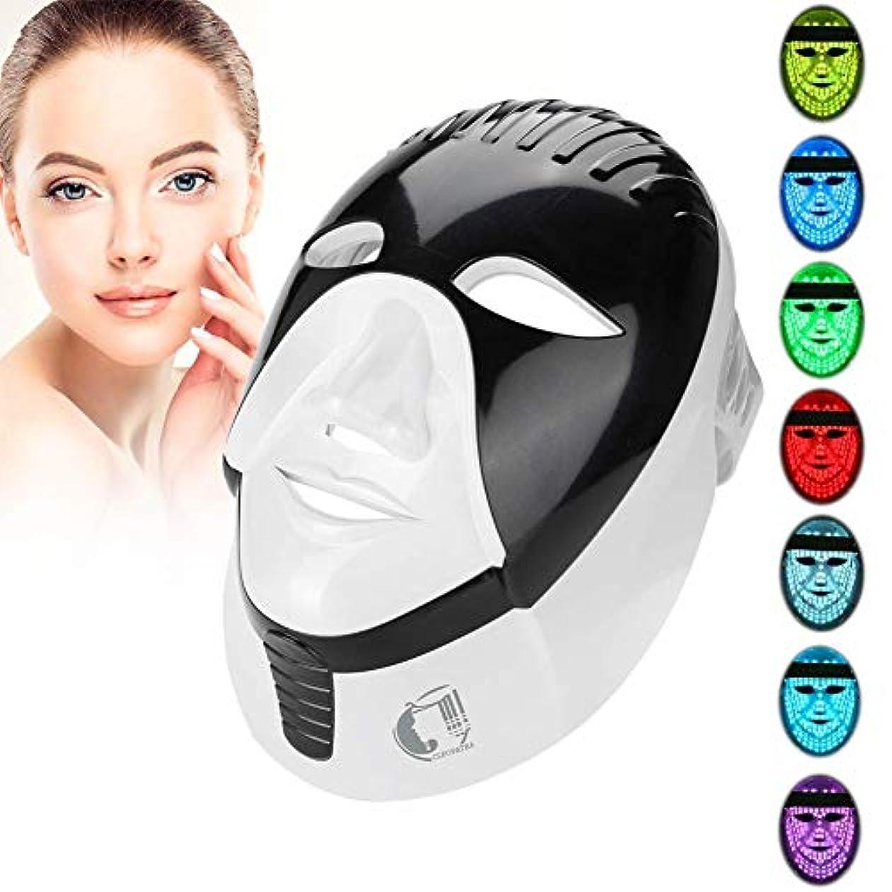 中間話すパンダフォトンセラピー7色マスク、毎日のスキンケアの若返りにきびとしわの除去のための美光療法フェイシャル