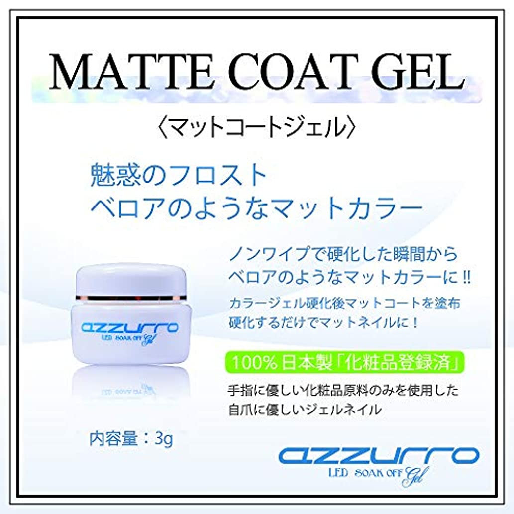 簡潔な散歩相対的azzurro マットコートジェル 3g