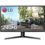 LG ゲーミングモニター ディスプレイ 27GK750F-B 27インチ/フルHD/TN非光沢/240Hz/2ms/DisplayPort×1・HDMI×2/高さ調節、ピボット対応