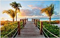 caribbean-beaches-turks-and-caicos-sunset旅行サイトはがきポストカード