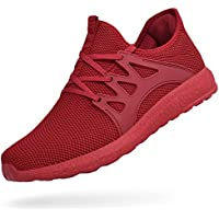 ZOCAVIA Women's Fashion Sneakers Flexible Lightweight Cushioning Breathable Tennis Shoes Red 8B(M) US