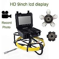 9インチ23mm 鉄フレーム工業用パイプ下水道検出カメラ IP68 防水排水検出 1000 TVL カメラ DVR ビデオ (20M)