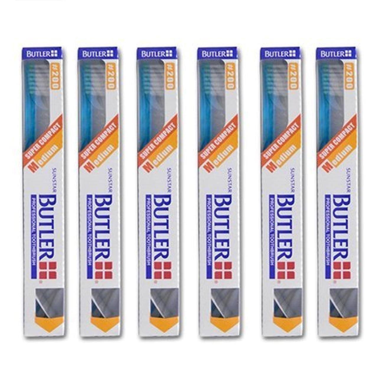 エレガントブラインドみすぼらしいバトラー 歯ブラシ 6本 #200