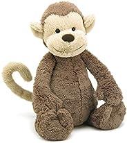 JellyCat Cuddly for A Child Bashful Monkey Medium BAS3MK