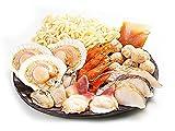 貝鮮塩麹鍋セット (貝類がメインの海鮮鍋セット) ホタテ・カキ・ホッキ貝をメインに赤えびや鱈そして鶏肉のつみれ入(しおこうじタレ付) うどん入り (帆立・牡蠣・北寄貝・赤エビ・タラ・ツミレ)