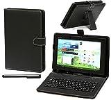 Navitech 7.0インチ Android/Windowsキーボード付タブレットケース microUSB 端子接続 ブラック Huawei MediaPad Youth2