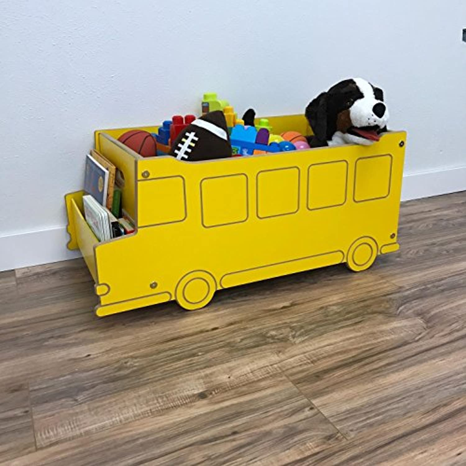 Little Colorado 050BUS School Bus Toy Box - Yellow