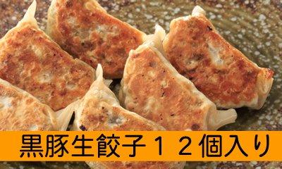 黒豚使用。自家製・生餃子12ケ。鹿児島ますや。子どもでも安心して食べられます。