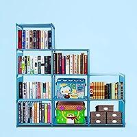 dicesnow DIY調整可能なキューブOrganizer本棚防水9キューブ4層ストレージキューブホーム家具クローゼットオーガナイザーストレージ(米国Stock ) ブルー