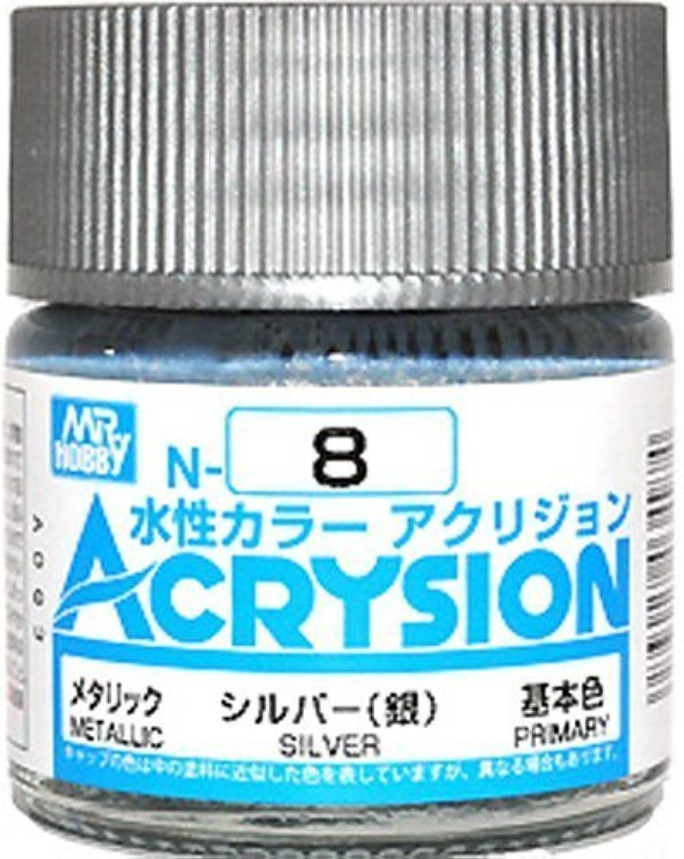 【水性アクリル樹脂塗料】新水性カラー アクリジョン シルバー (銀) N8