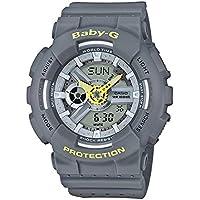 Casio Baby-G Grey Analogue/Digital Female Punching Pattern Watch BA110PP-8A