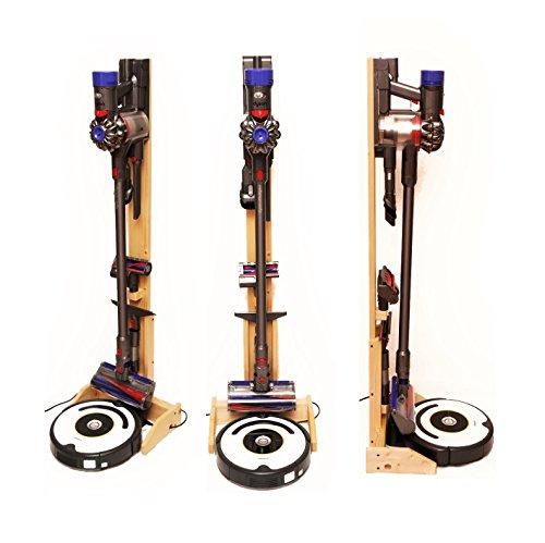 ST-04 WN 掃除ロボット+コードレスクリーナー用木製ス...