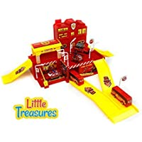 Let your child build a heroic tale of fire rescue, with Fire Fighting Play set; a spacious, captivating model - watch your little person put out the fire, rescue the injured and save the day! [並行輸入品]