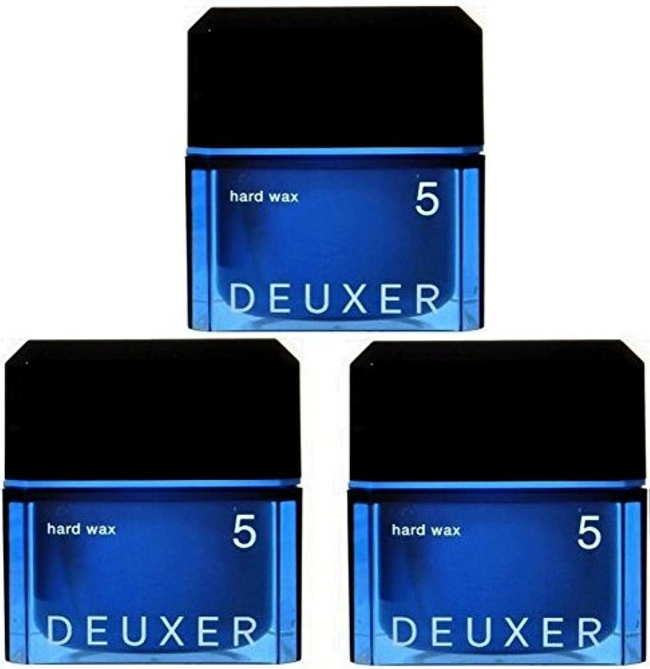 動作森水銀のナンバースリー デューサー ハードワックス 5 80g ×3個 ねじり束や根元の立ち上がりもキープ エッジを効かせたスタイルにも NUMBER THREE no3 deauxer