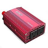 AUKEY カーインバーター 300W 車載USB充電器 シガーソケット ACコンセント DC12VをAC100V-110Vに変換 2.4A出力USBポート iPhoneやAndroidスマホなどのUSB充電 PA-V17