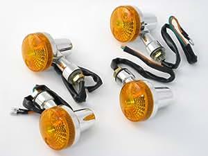 JILLS PRODUCTS GSタイプ ミニウインカー(オレンジ) 4個SET CB400Four CB400SF ジェイド ホーネット VTR250 CB400T SR400 XJR400 ゼファー400 ZRX400 バリオス モンキー エイプ シャリー ダックス ズーマー ジャズ ベンリィ マグナ50 YB-1 TW225 セロー ボルティ