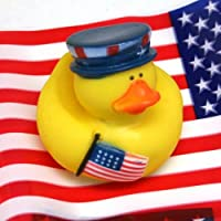 One Dozen (12) Patriotic 4th of July Rubber Duckys [並行輸入品]