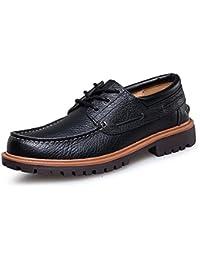 aemax デッキシューズ メンズ ウォーキング 革靴 手作り 大きいサイズ 本革 ビジネス用 カジュアル 高品質 オールシーズン レースアップ