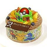 キャラデコお祝いケーキ ポケットモンスター サン&ムーン 5号 15cm チョコクリームショートケーキ